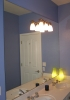 Bath Mirror with Light Fixture