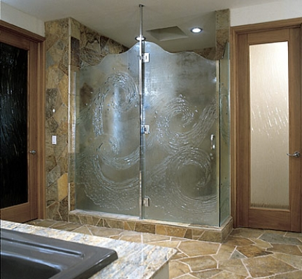 Glass Door on Showers  Custom Designs  Frameless Shower Doors  Custom Shower Doors