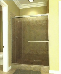 Shower with Clamp on Towel Bar 135