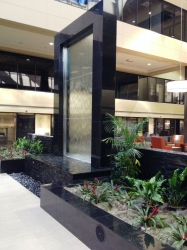 Waterfall feature at Biltmore Commerce Center
