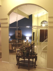Arched Mirror with Beveled Strips