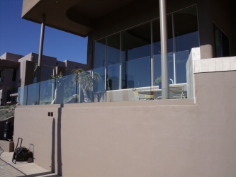 Frameless Glass Patio Railing
