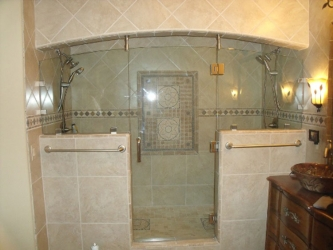 "Custom Shower Enclosure with 1/2"" Glass"