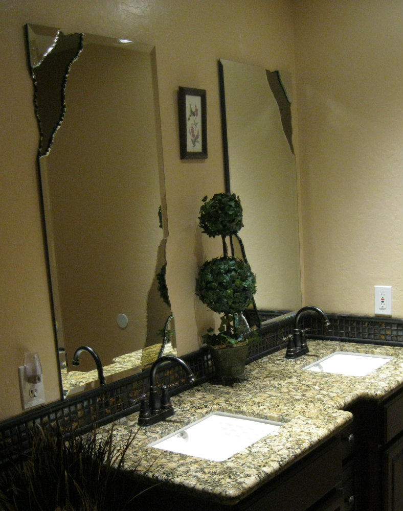 Custom Bathroom Vanities Phoenix custom mirrors including chipped edge, beveled and complete
