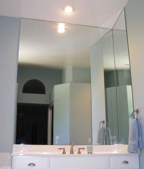 Custom Mirrors Including Chipped Edge Beveled And