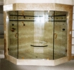 Double Door Frameless Shower 122