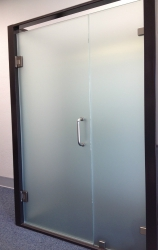 Satin Etched Frameless Shower 137
